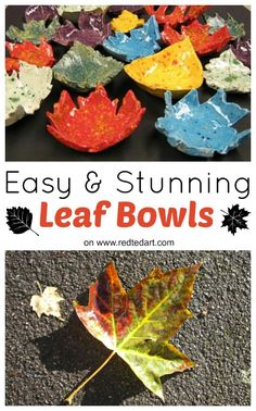 How to make Autumn Leaf Bowls. Use REAL Leaves to make these stunning and easy Autumn Leaf Bowls. They can be fired in a kiln or you can use air drying clay. Such a fabulous Autumn Craft for kids and grown ups a like come and take a look how easy they are to make!