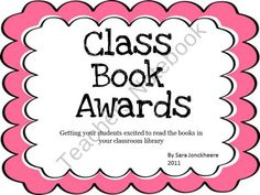 Get your students excited to read the books in your classroom library by nominating and voting for books in your very own Class Book Awards! Reading Resources, Reading Strategies, Reading Skills, Teaching Reading, Reading Comprehension, Third Grade Reading, Second Grade, Reading Process, School Organization