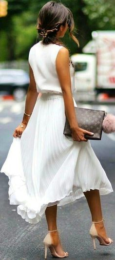 summer outfits Pleated Skirt