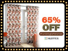 Get Flat 65% discount on floral curtains this festive season. Get quality curtains from the house of Skipper. #FurnishingKaMahamela