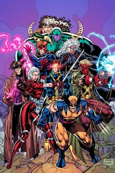 Wildcats and the Uncanny X-Men by Jim Lee and Scott Williams. Marvel Comics Art, Marvel Comic Books, Comic Book Heroes, Marvel Heroes, Comic Books Art, Comic Art, Marvel Xmen, Captain Marvel, Marvel Comic Character