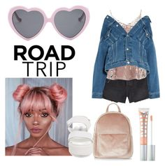 """California pink road trip"" by biancaallotey16 on Polyvore featuring Frame, Dorothy Perkins, Balenciaga, New Look, Steve Madden, MILK MAKEUP and Vans"