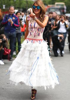 Anna Dello Russo au défilé Chanel automne-hiver 2014-2015