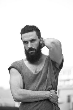T shirt beard fashion men tumblr streetstyle Style simple look