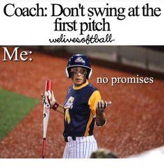 baseball tips, baseball memes, funny softball quotes Softball Chants, Softball Workouts, Softball Pitching, Softball Coach, Softball Players, Girls Softball, Fastpitch Softball, Softball Stuff, Softball Gear