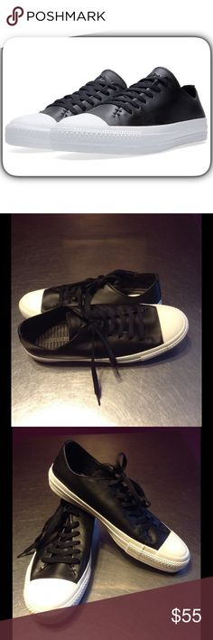 44963c5176562 Converse All Star Leather The Converse Chuck Taylor All Star Sawyer is  rigged with a deconstructed