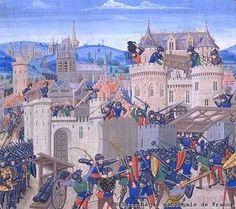 (Bibliothèque nationale de France)  Le système féodal qui s'est installé en Europe depuis l'empire carolingien de Charlemagne, a entraîné une décentralisation du royaume en plusieurs territoires autonomes.
