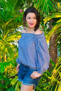 Timeless Optimist fashion blog | petite fashion blogger, sunglasses, vacation outfit, vacation ideas, off the shoulder top, trendy, flowy, tropical island, jamaica, packing, casual look, j crew, stripes, fashion, fashion blogger, lookbook, outfit ideas, outfit, inspiration, 2017