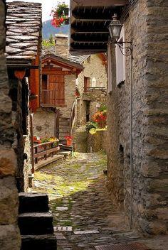 Ancient Street Torgnon Italy