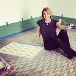 Paint out at Rave + Lily's Flagship store in Austin | Herringbone Shuffle Stencil | Royal Design Studio