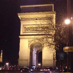 Arc de Triomphe w/ Tour Eiffel by night