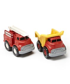 Another great find on #zulily! Fire Truck & Dump Truck Set by Green Toys #zulilyfinds