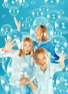 "y2kaestheticinstitute: "" y2k motif: bubbles - Hanson by David LaChapelle (1997) """