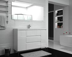 Biel w łazience jest ponadczasowym i klasycznym rozwiązaniem. Połysk eleganckich, lakierowanych na wysoki połysk mebli łazienkowych ETHOS rozjaśni każde pomieszczenie.