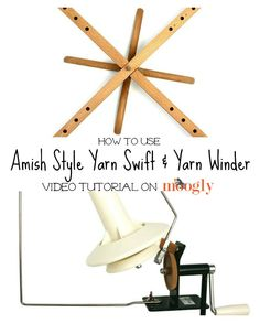 How to use a yarn swift and winder - a video tutorial by @moogly