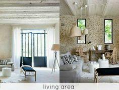 Light & breezy living area by Homestilo