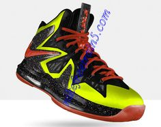 Nike Lebron 10 Elite Infrared Anthracite Lime Green