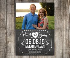25 Save the Date Magnets Chalkboard design by LittleBeesGraphics