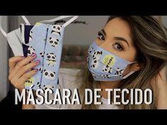 MÁSCARA DE TECIDO - COMO FAZER MÁSCARA SEM MÁQUINA DE COSTURA - YouTube Easy Face Masks, Diy Face Mask, Diy Sewing Projects, Sewing Patterns, Facial, Make It Yourself, Youtube, Bolo Frozen, Ideas Para