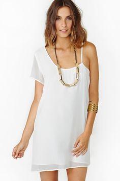 Cool Midnight Dress - White