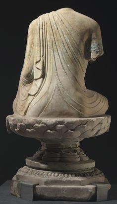 唐初 石雕坐佛軀像 | figure, stone | Christie's