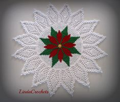 Ravelry: lindacrochets' Poinsettia Tapestry Doily