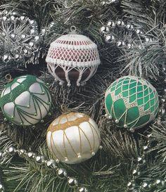Christmas Ornament Cover Crochet Patterns - 4 Designs
