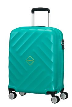 American Tourister Crystal Glow 76cm 4 Wheel Suitcase - Aqua Turquoise 4  Wheel Suitcase 20f9a52131