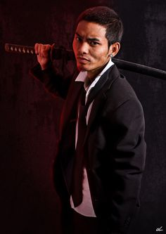 shadowrun; male; human; asian; suit; dark-haired; suit