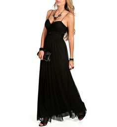 Ellysia- Black Long Lace Homecoming Dress possibly for ball?