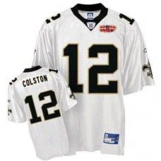 d0dd181923a Saints #12 Marques Colston White With Super Bowl Patch Stitched NFL Jersey  New Orleans Saints