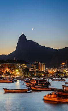 Waxing Moon - Guanabara Bay - Rio de Janeiro - Brazil