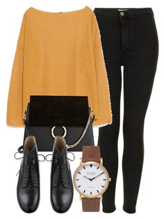 """""""Untitled #4297"""" by laurenmboot ❤ liked on Polyvore featuring Topshop, Zara, Chloé and Shore Projects"""