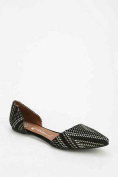 $59 Jeffrey Campbell In Love Optical DOrsay Flat - Urban Outfitters