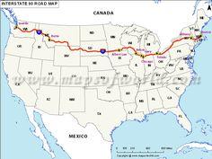 Interstate 90 map | US Interstate 90 Map - Albert Lea to Seattle ,next road trip