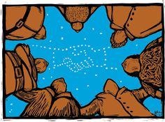 Solidarity -- represented here by the joining of hands -- is in the stars.