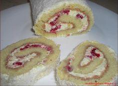 Roláda piškotová s krémem a malinama