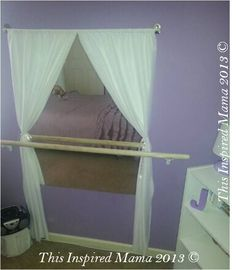 DIY Mama: DIY Little Girl Ballet Space. OMG I want to do this in Em's room for her to practice her ballet moves!