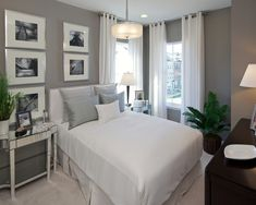 Bedroom Guest Bedroom Design, Pictures, Remodel, Decor and Ideas  from Houzz. Like so much about this one. Every little detail is just great!