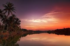 Sunset on the river Sal in South Goa #mygoaproperty #goa #property for more info email on allproperty@devant.no