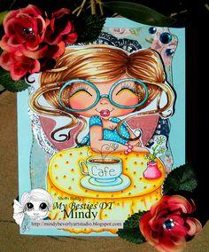 Mindy Beverly Art Studio: My Bestie Cafe Card