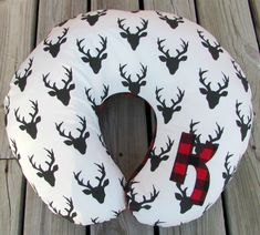 Boppy Cover, Buffalo Plaid, Nursing Pillow, Newborn Lounger Cover, Baby Boy, Rustic Nursery Decor, Crib Bedding, Deer, Woodland, Personalize by LovePitterPatter on Etsy https://www.etsy.com/listing/268736821/boppy-cover-buffalo-plaid-nursing-pillow