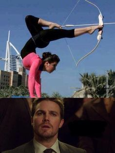 Arrow jokes, I have to say how freakin' awesome that is. She got skills