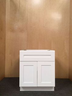 "WHITE 30"" solid wood SINK BASE bathroom vanity/bathroom cabinet - RTA #Millhouse"