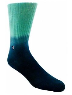 Turquoise Blue Gradient Mens Socks PRICE $9.99