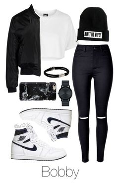 """Night with Bobby "" by ari2sk ❤ liked on Polyvore featuring Topshop, Sans Souci, NIKE, Movado and Felony Case"