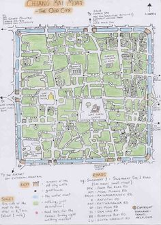 Chiang Mai Guesthouses - one very devoted dude's guide and hand-drawn map