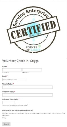 Friedens Community Ministries volunteer check in form example Donation Form, Form Example, Online Form, Volunteers, Non Profit, Ministry, Community, Check