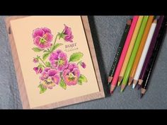 Colored Pencil Blending & How To Make Any Size Easel Card!