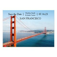 Golden Gate Bridge Photo - Save the Date Card